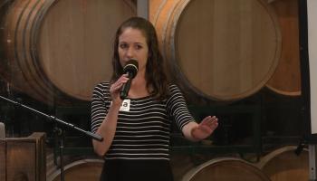 Lisa Curtis demos Kuli Kuli at FoodBytes Summit
