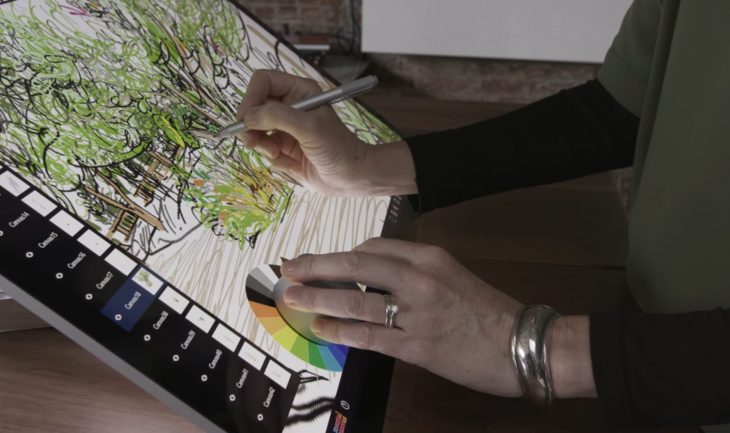 Mental Canvas on Surface Studio with Surface Dial