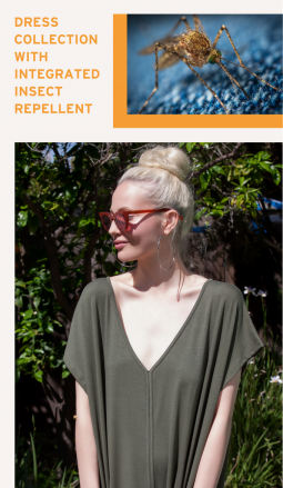 Dress Collection With Integrated Insect Repellent