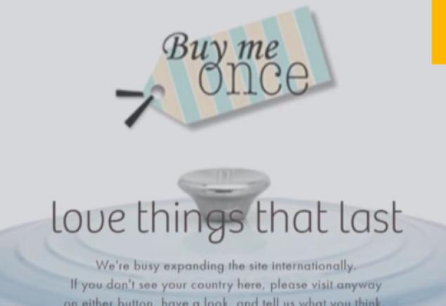 Buy Me Once